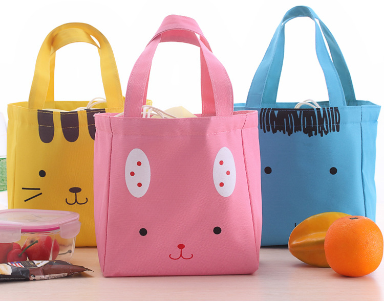 New Portable Insulated Lunch Bag Thermal Cute Bags Picnic Food Lunch Box Bag for Women Girls Students Kids -15