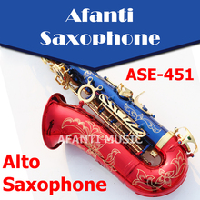 Afanti Music  Bb tone / Brass body / Glod finish Alto Saxophone (ASE-451)