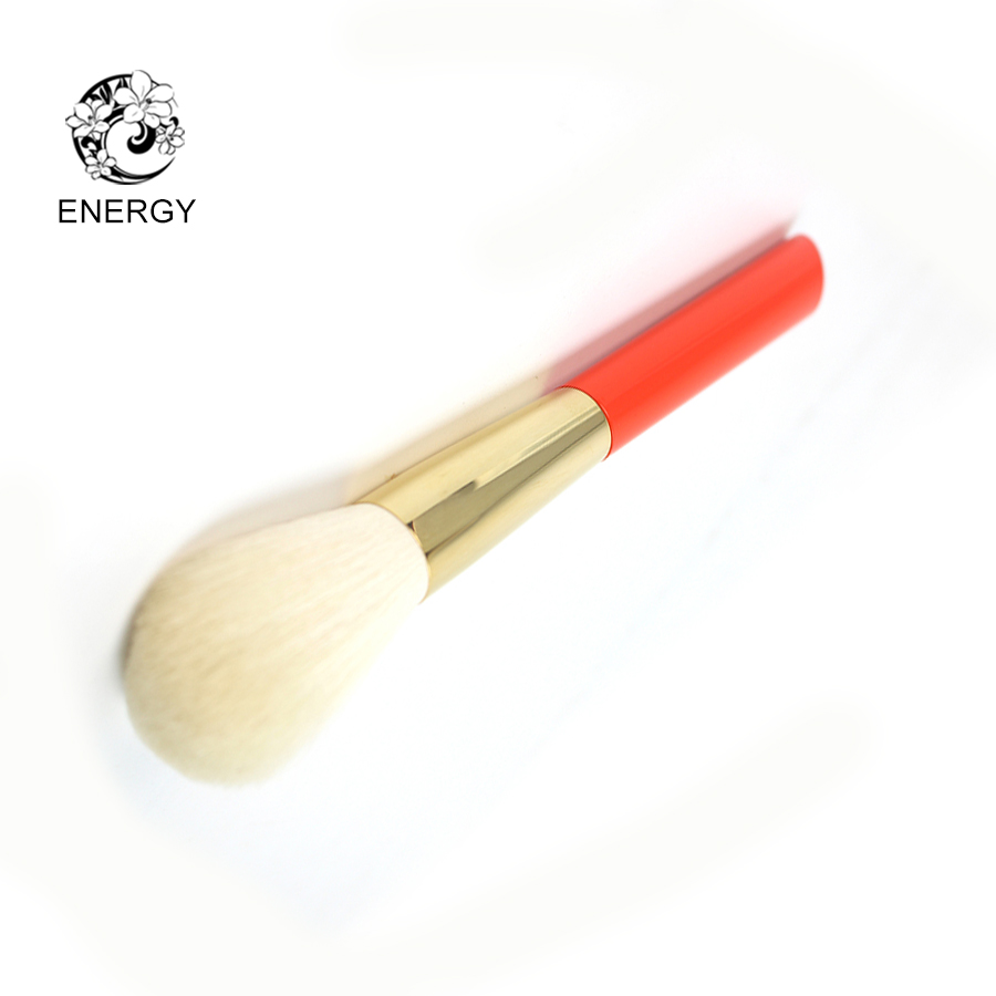 ENERGY Brand White Goat Hair Round Powder Brush Makeup Brushes Make Up Brush Brochas Maquillaje Pinceaux Maquillage Pincel S104W h01 professional makeup brushes squirrel hair sokouhou goat hair powder brush walnut wood handle cosmetic tools make up brush