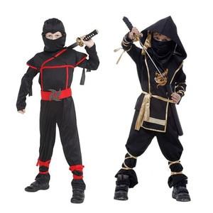 Image 3 - Bambini Ninja Costumi Del Partito di Halloween Delle Ragazze Dei Ragazzi Guerriero Stealth Bambini Cosplay Assassin Costume