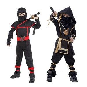 Image 3 - Kids Ninja Costumes Halloween Party Boys Girls Warrior Stealth Children Cosplay Assassin Costume