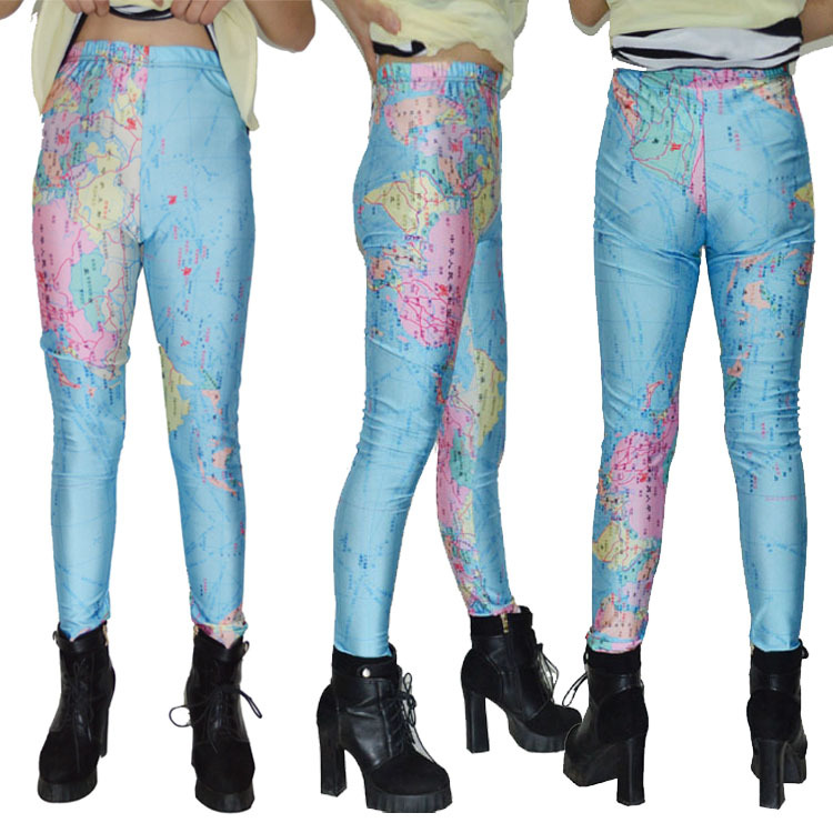 World map sky digital printing nine points leggings leggings europe world map sky digital printing nine points leggings leggings europe in leggings from womens clothing accessories on aliexpress alibaba group gumiabroncs Choice Image