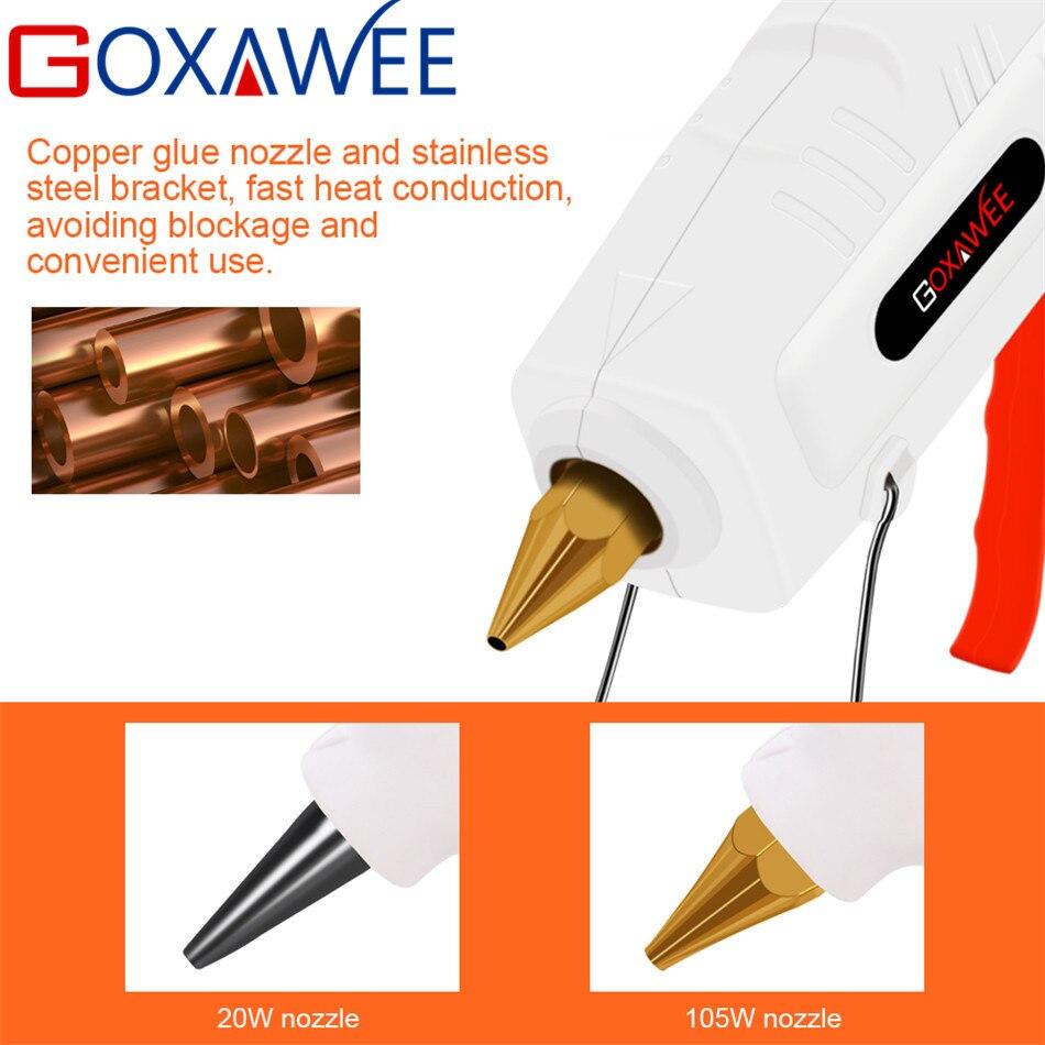 Goxawee Электрический термоплавкий клеевой пистолет 20 Вт 80 Вт 105 Вт с 10 шт. клеевые палочки термотермостойкие пистолеты термоклеевые ремонтные ...