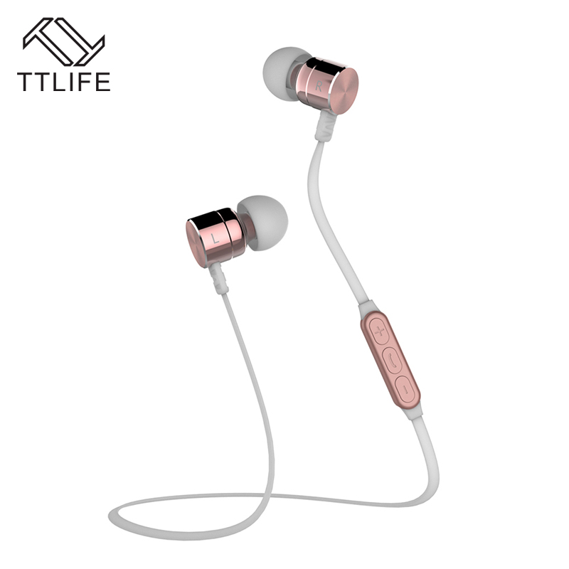 TTLIFE BX325 Magnetic Bluetooth Earphone Headphone Sport Wireless Headsets with Mic Bass Stereo In-ear Earbuds Auriculares ttlife original bluetooth v4 1 earphone wireless in ear stereo headset waterproof apt x sport headphone with mic for ios android