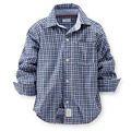 Free Shipping Children clothing Boys Shirts Famous Brand Blouse Patch Design Long-sleeve Spring Autumn Kids Plaid Blouse Shirt