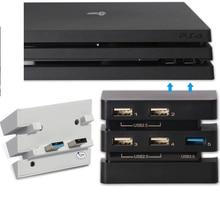 Ps4 الموالية المضيف usb hub 3.0 و 2.0 منفذ usb لعبة وحدة عالية السرعة التوسع تمديد usb محول موصل ل playstation 4 برو