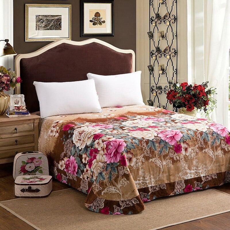 Image 2 - Brown Purple 100%Cotton kids adults Bedding Set twin full queen  king size Floral print Duvet cover soft Bed sheet set Pillowcasesheet  setking sizebedding set