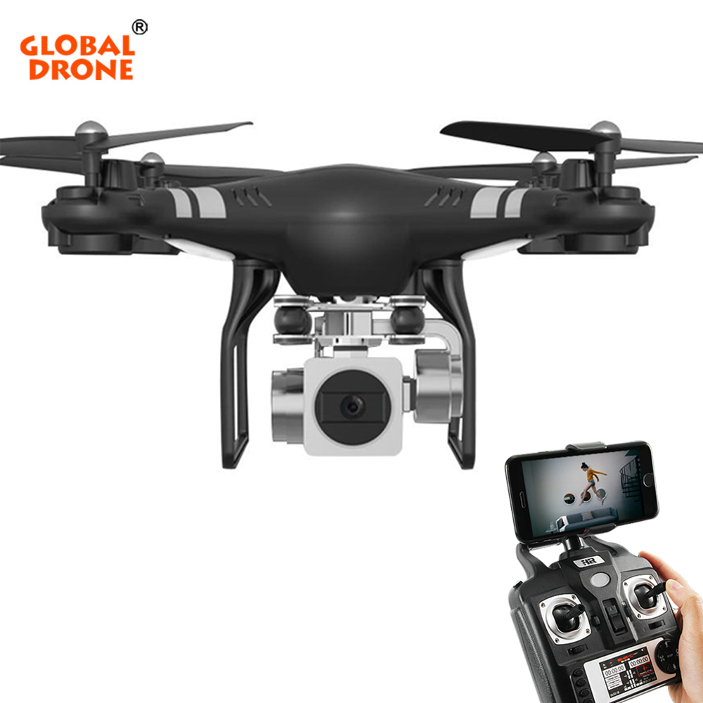 Global Drone 4CH 6-Axis FPV RC Helicopter Altitude Hold Hover Drones with Wide Angle Camera HD 2MP VS SYMA X5SW professional x52 wide angle drone 2mp camera rc wifi fpv live helicopter hover with remote control