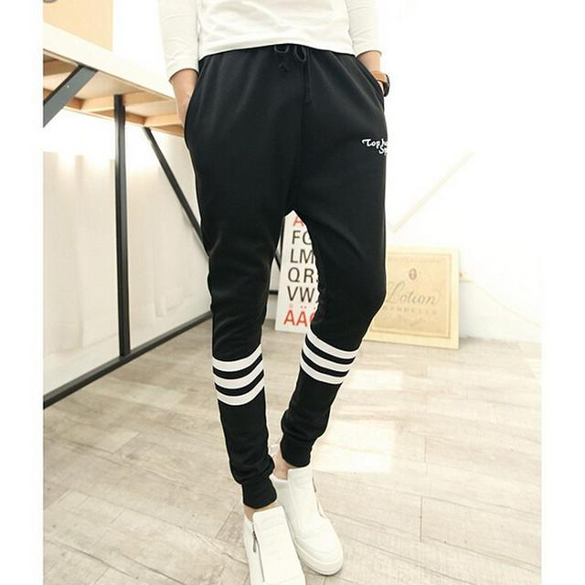 Baggy tapered pant hip hop dance harem sweatpants drop crotch pants men parkour  trousers black 2XL