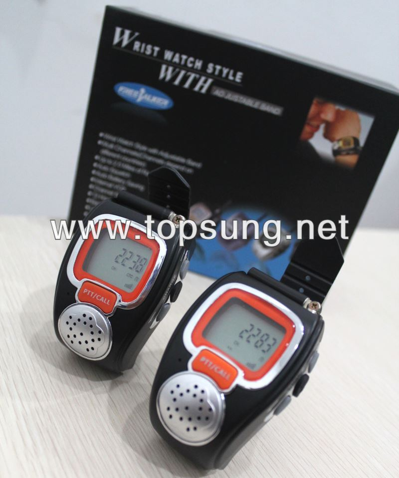 2pc Freetalker 22 Channel Wrist Watches Walkie Talkie Set For Kids Ts008 Walky Talky Watches Up To 3 Mile (new Version 121 Code)