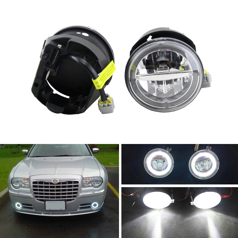 E4 DOT Approved 10W Cree Chips Led Driving Fog Light Kits W DRL Halo Rings For