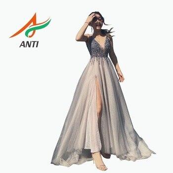 efcd3861a97e2f6 Product Offer. Анти сексуальное вечернее платье 2019 v-образный вырез  бусины открытая спина линия Длинные вечерние платья ...