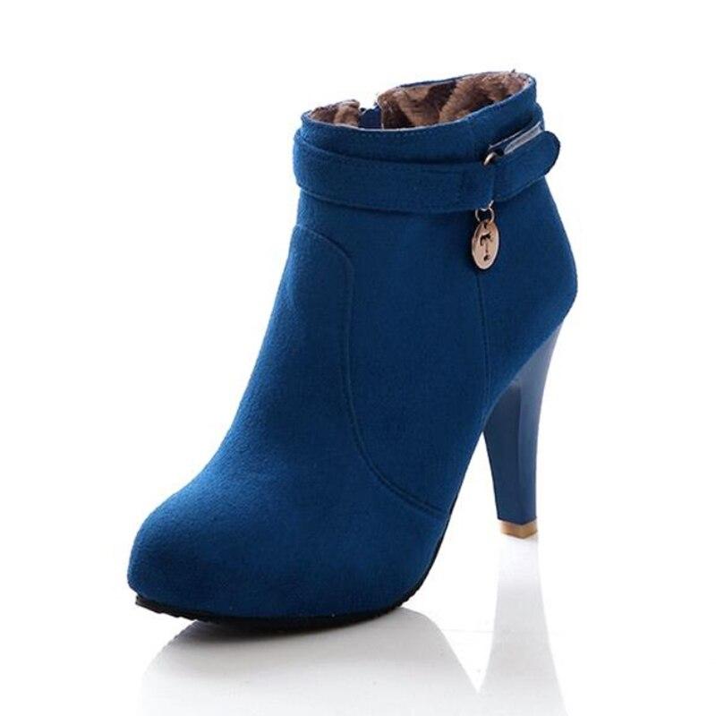 xZS4qwaZ Mujeres Mujer rojo Negro Cómodo Zapatos Casual Otoño Invierno azul Botines Botas nWZqqBPvw
