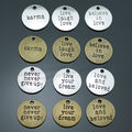 40pcs/lot 20mm round antique silver, bronze message charms, live laugh love, live your dream charms, believe in love charms