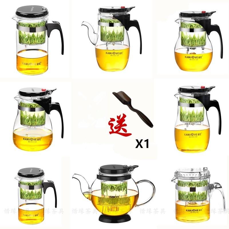[Grandiosidade] vários kamjove vidro kungfu bule de chá piaoyi bei conveniente chá kungfu conjunto de imprensa auto-arte aberta xícara de chá