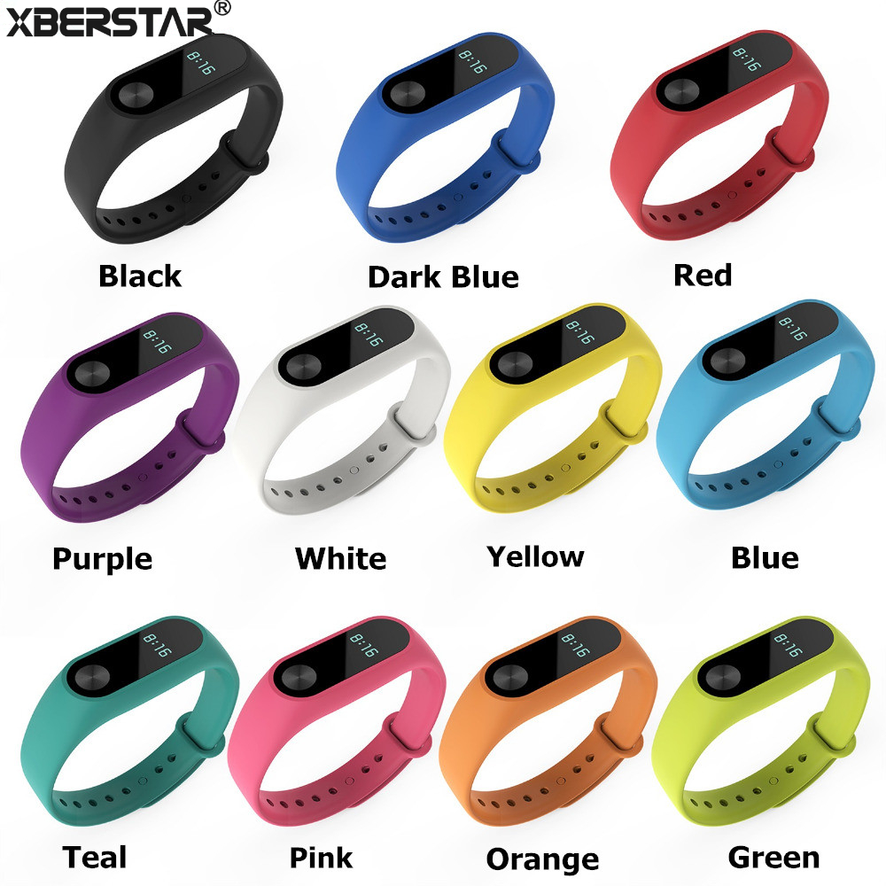 Silicone Wrist Band Strap for XIAOMI MI Band 2 Tracker Fitness Bracelet Replacement Wristband Strap Belt Smart Accessories