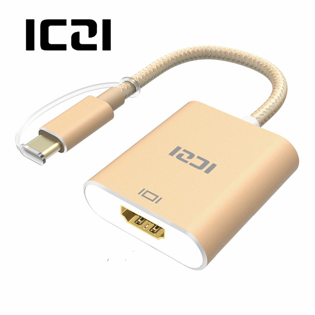 ICZI 3.1 USB C to HDMI 4K UHD Adapter Aluminum Body for MacBook Chromebook Pixel Yoga 900 Lumia 950 / 950XL USB-C Type-c HDMI