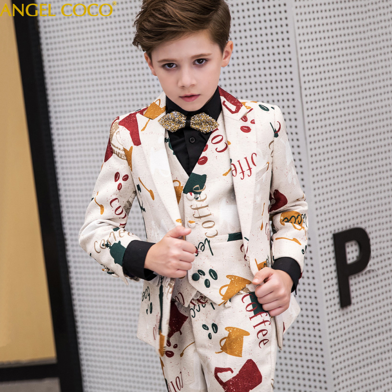 Boys Blazer 5 Pcs Wedding Suits For Boy Formal Dress Suit Boys Suits For Weddings Clothes Kid Tuxedos Page Boy Outfits Costume браслет hand around hand around ha021dmzgk43