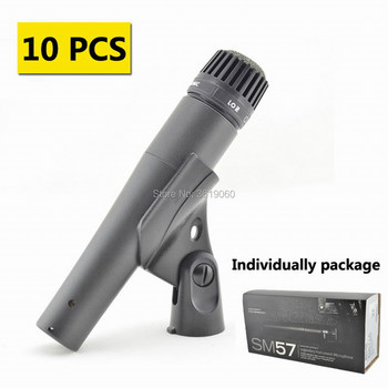 Free shipping, 10 pcs discount price sale ,shuretype mic SM57 wired dynamic drum musical microphone