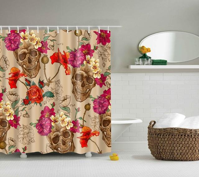 Recuerdame cortinas de ducha de dibujos animados, cortina de baño de diseño de Calavera, cortina de baño de poliéster ecológica personalizada, de varios tamaños