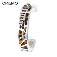 Cremo Hollow Out Woodpecker Bangles Vintage Bracelet Jewelry Cuff Bangles for Women Stainless Steel Bangles 2019 New Arrivals цена