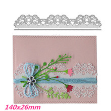 140x26mm Lace Edge Frame Making Scrapbook Greeting Card Hollow Metal Cutting Dies Stencil Embossing Template DIY