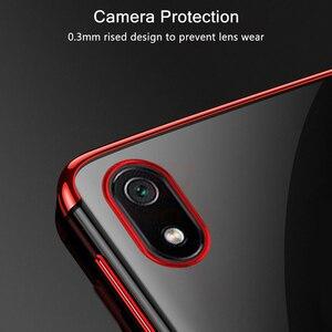 Image 2 - Hacrin per il Caso di Xiaomi Redmi 9 Caso di Lusso Trasparente Trasparente Del Respingente di TPU Del Silicone di Caso Della Copertura di Placcatura per Xiaomi Redmi 8 7A