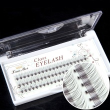 60 pcs/lot Artificial natural long Individual Cluster eyelashes Professional makeup Grafting fake false eyelash