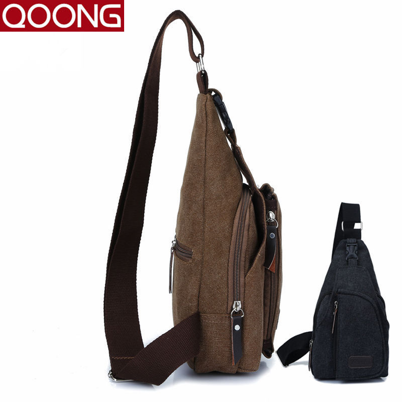 Hot Unisex Canvas Chest Bag Back Pack Men Women Crossbody Shoulder Bags Male Female Diagonal Package Rucksacks Phone bag case men s bags chest pack casual single shoulder back strap male bag split leather high capacity chest bag crossbody leather