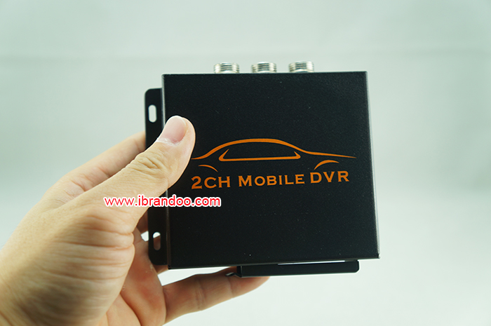 Mobile dvr sd card 2 channel car dvr
