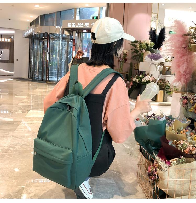HTB1yUnMXpY7gK0jSZKzq6yikpXab 2019 Backpack Women Backpack Solid Color Women Shoulder Bag Fashion School Bag For Teenage Girl Children Backpacks Travel Bag