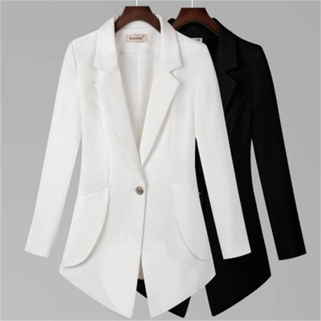 96724ff66247b US $26.68 30% OFF|Aliexpress.com : Buy Ms.Blazers Women spring Autumn New  Slim small suit jacket female Plus Size 7XL temperament section of small ...