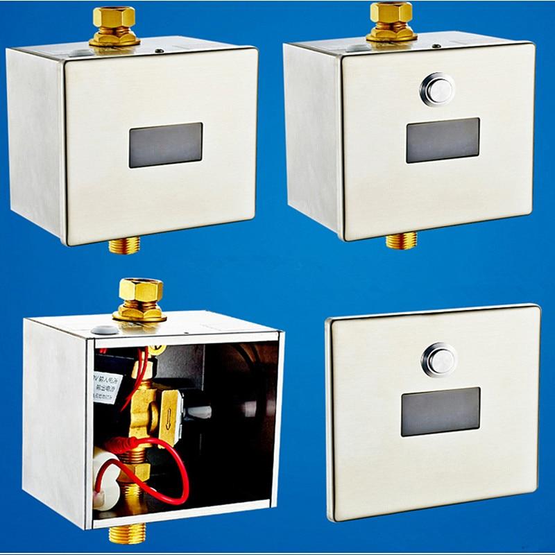 Urinale J18088 FöRderung Der Produktion Von KöRperflüSsigkeit Und Speichel Ac/dc Oberfläche Wand Montiert Top Spud Einlass Wasser Automatische Induktion Sensor Urinal Flusher Mit Eingestellt Wasser Volumen