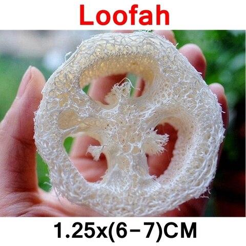 100 pcs lote 6 7 cm grande tamanho natural bucha luffa esponja diy personalizar cleanner