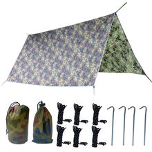 300X300cm Camping Beach Survival Sun Shelter Shade Awning Pergola Waterproof Tent UV protection Tarp with rope and peg(China)
