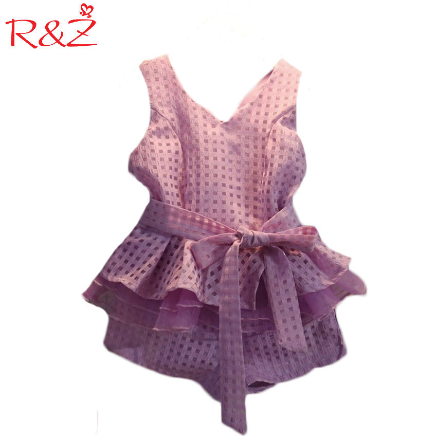 2017 summer girls clothing sets 2 colors chiffon plaid sleeveless shirt +shorts suits baby girls princesas kids clothes 3-7T k1