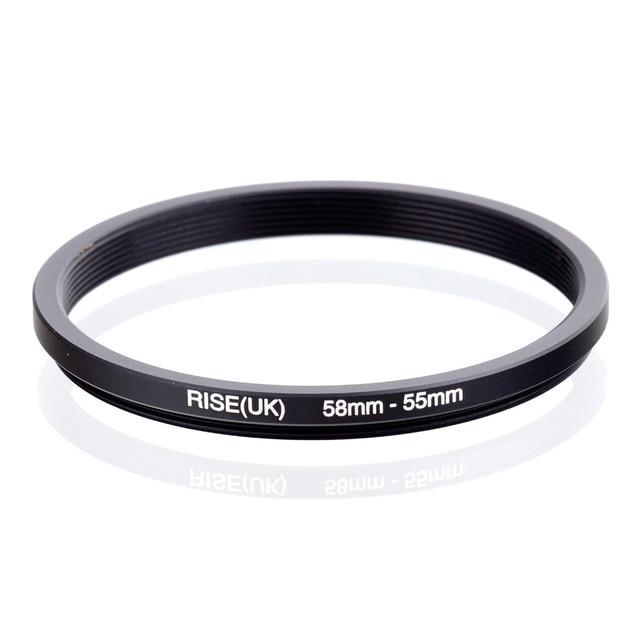 עלייה (בריטניה) 58mm 55mm 58 55mm 58 כדי 55 שלב למטה טבעת מסנן מתאם שחור
