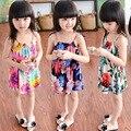 Niños Vestidos para Niñas Niños ropa de La Muchacha Vestido de Verano vestido de Tirantes de Algodón Vestidos de Las Muchachas de los Cabritos ropa de ninas