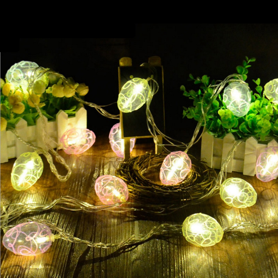 YINGTOUMAN Easter Egg Battery Powered Type Lamp LED String Light Christmas Holiday Wedding Party Decoration Lighting 4m 20LED