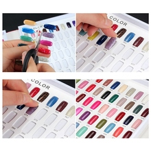 False Nail Color Book Display Art Gel Polish Card Chart Palette Varnish Practice Board Manicure