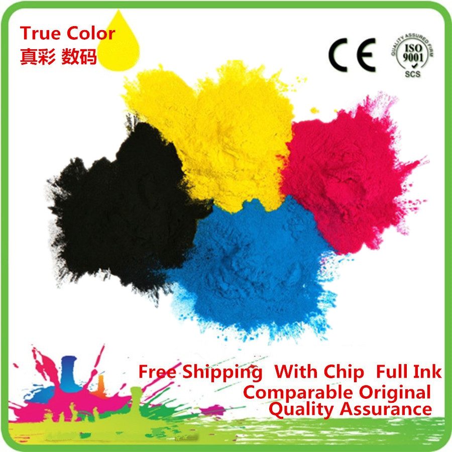 4 x 1Kg Refill Copier Laser Color Toner Powder Kits For DELL 2130 2135 Printer toner cartridge for dell c2660 c2665 c2660dn c2665dnf color multifunctional printer for dell 67h2t tw3nn v4tg6 2k1vc toner kit