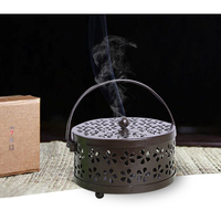 VIXTMAX Hollow Mosquito-repellent Incense Safe Burner Aromatherapy Plate Metal Box For Home Office Garden Pest Control 3 Colors