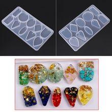 1 Set UV Crystal Epoxy Pendant Mould Bear Fishtail Silicone Mold DIY Handmade Jewelry Making Tools