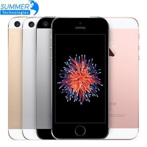 Оригинальный Apple iPhone SE разблокированный 4G LTE мобильный телефон iOS Touch ID Chip A9 двухъядерный 2G RAM 16/64 ГБ ROM 4,0
