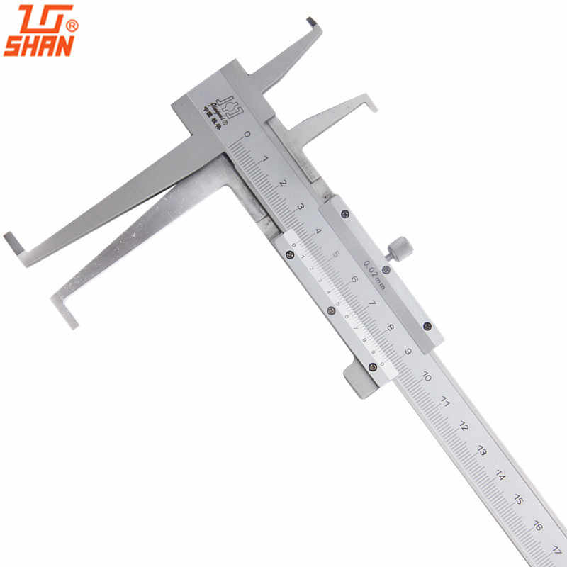 SHAN 9-300mm/0.02 Long Claw Inside Groove Vernier Calipers Stainless Steel Inner Vernier Calipers Accuracy Measuring Tools