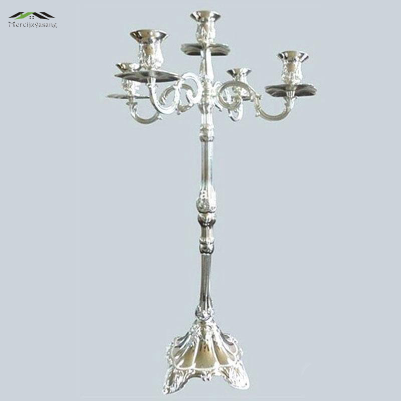 Pcs lot cm height candelabras metal silver tall candle