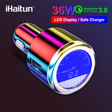 iHaitun Luxury 36W LCD USB Car Charger For Samsung Quick Charge Fast 3.0 QC QC3.0 iPhone Xiaomi Redmi K20 Note 7 OnePlus