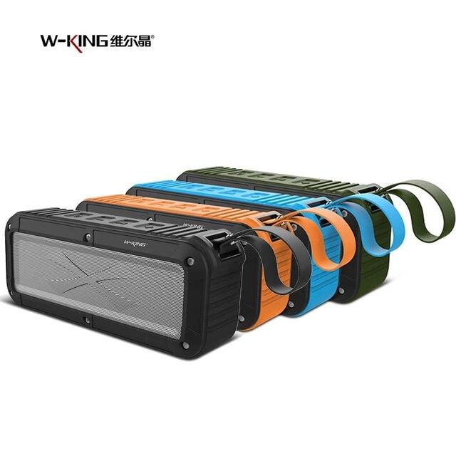Оригинальный w-король Водонепроницаемый Bluetooth S20 велосипед Динамик противоударный Беспроводной NFC TF карты Радио играть Hands-Free Mic душа сабвуфер