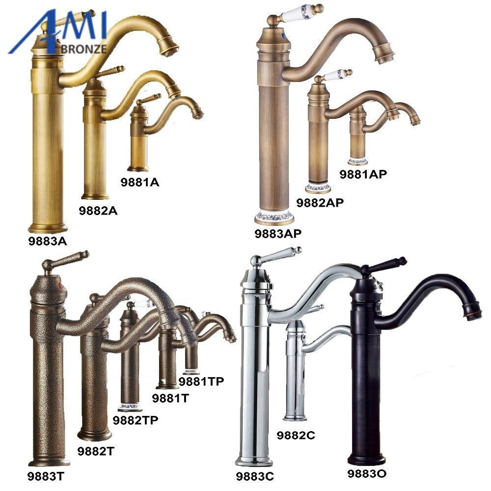 Kitchen Sink Bathroom Basin Faucets Brass Faucet Mixer Tap Swivel 9881 9882 9883