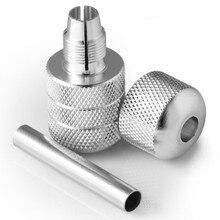 25 мм серебро авто-замок алюминиевый сплав татуировки ручки поставка